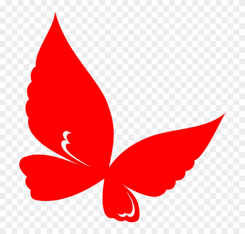 Red Butterfly Clipart #9745