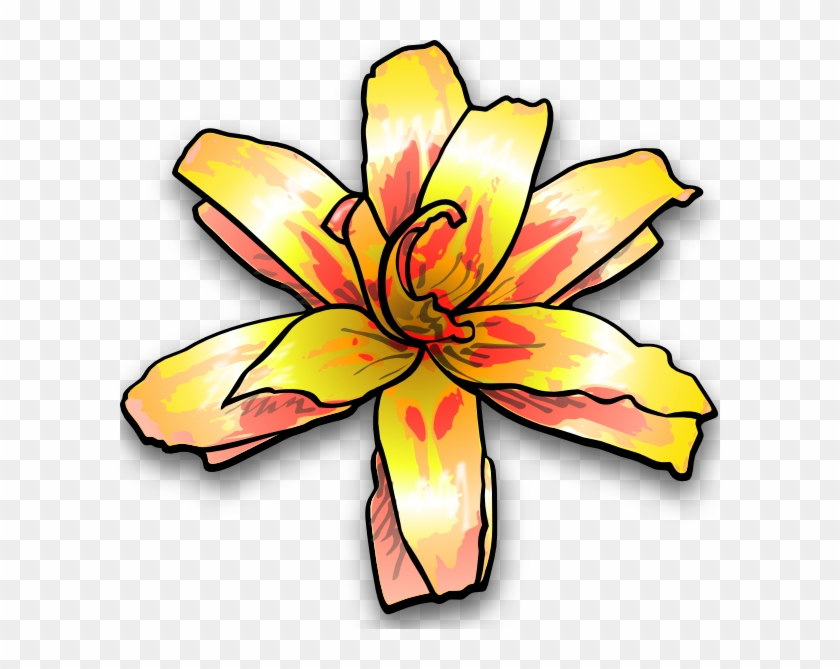 Yellow Flower Clip Art #9790