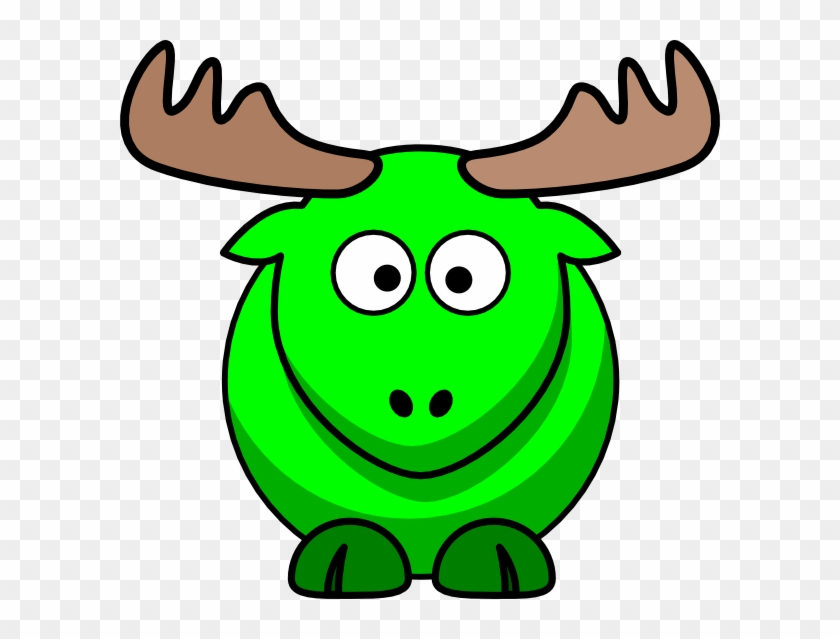 Moose Green Kids Clip Art - Moose Cartoon #9792