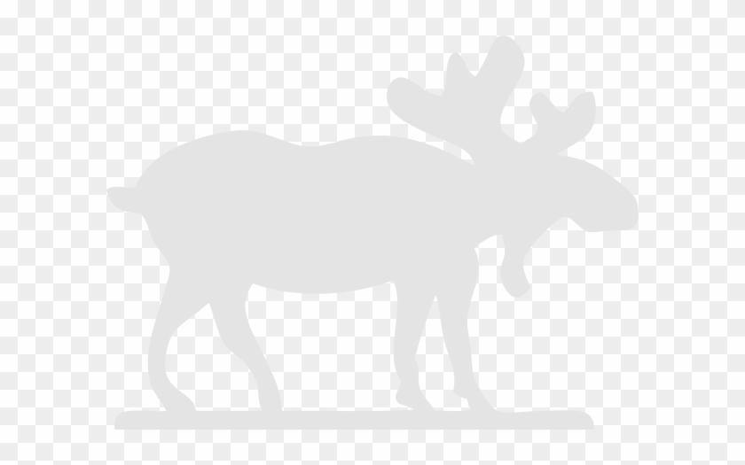 Gray Moose Clip Art At Clker - White Moose Black Background #9793