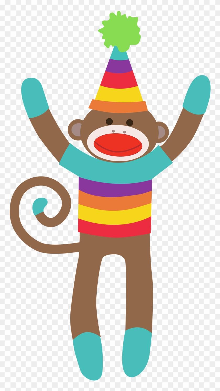 Sock Monkey Clip Art For Christmas - Colorful Sock Monkey Clip Art #9853