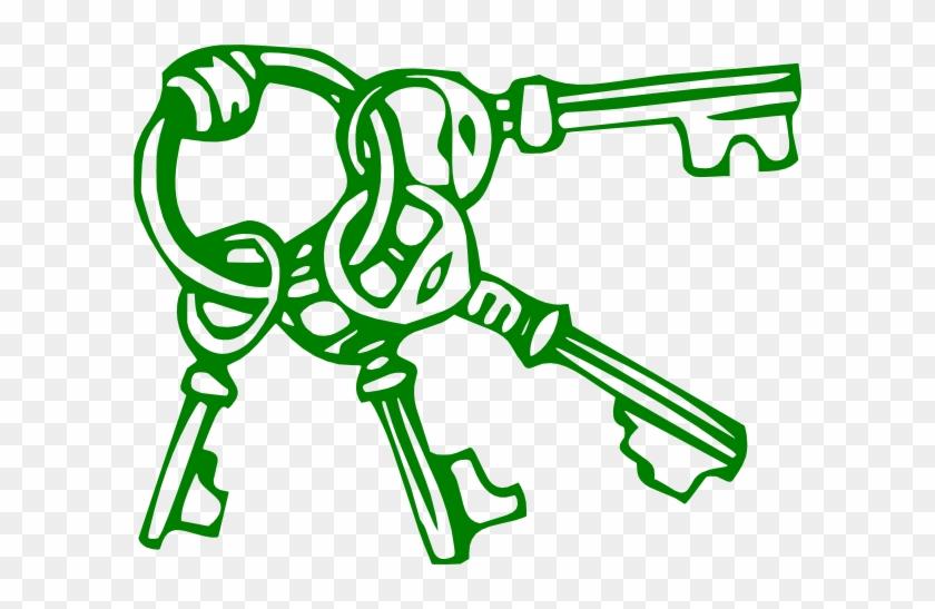 Key Clip Art Free - Key Clip Art Green #9874