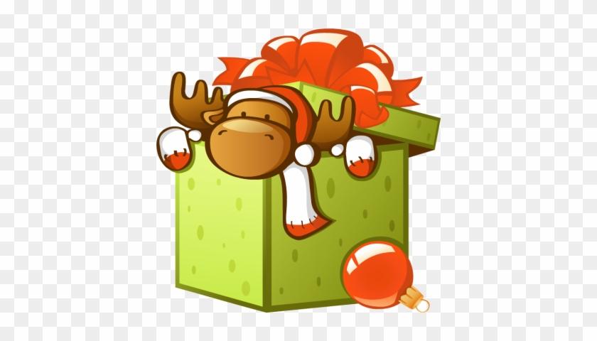 Free Clipart Christmas Gift Bo Box Clipart - Gift Box Cartoon #9907