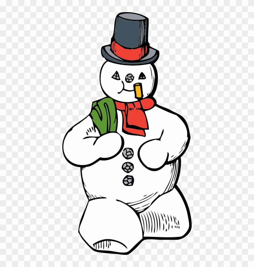 Christmas Candy Clipart - Snowman Clip Art #9921