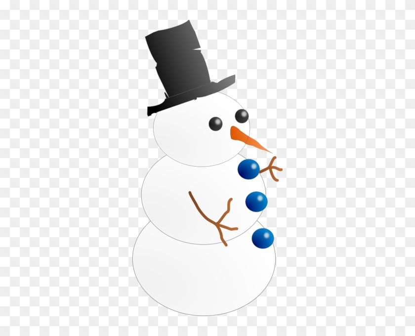 This Image Of A Snowman Wearing A Top Hat Is Pretty - Animated Clipart Snowman #9953