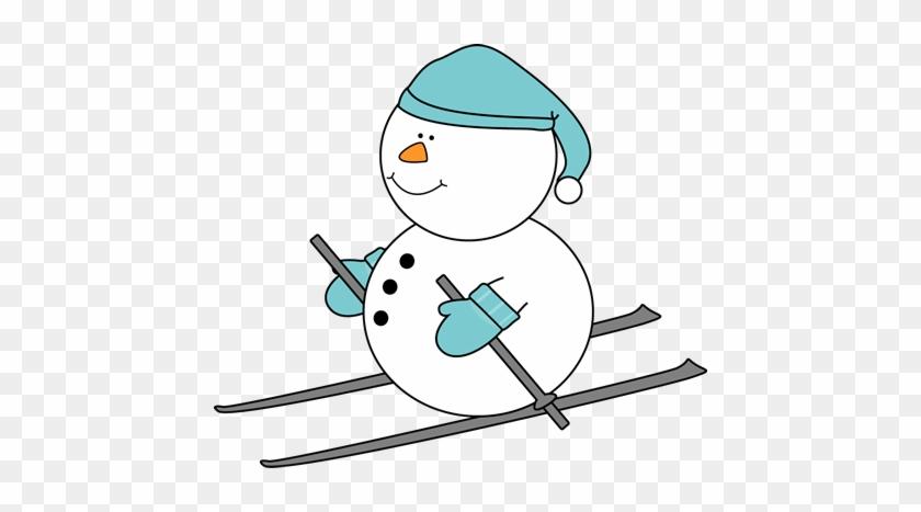 Snowman Skiing - Skiing #9971