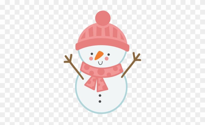 Girl Snowman Svg Scrapbook Cut File Cute Clipart Files - Cartoon #9974