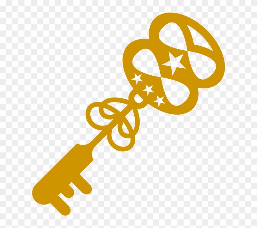 Clipart - Treasure Key - Clip Art #9982