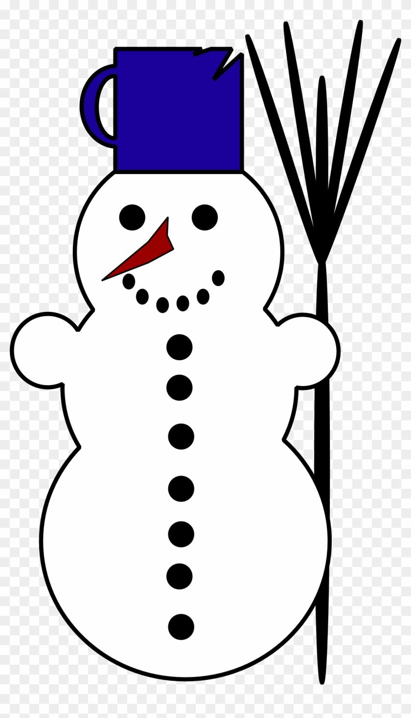 Vintage Snowman Clipart - White Clipart #9996