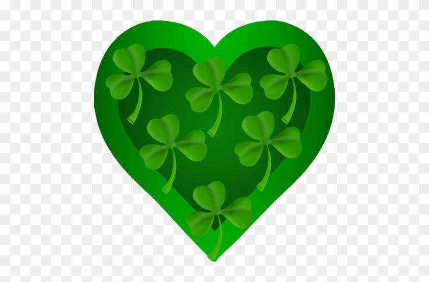 Patrick's Heart With Shamrock - St Patrick's Day Clip Art #10010