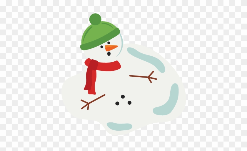 Melting Snowman Clipart - Svg File Melting Snowman #10043