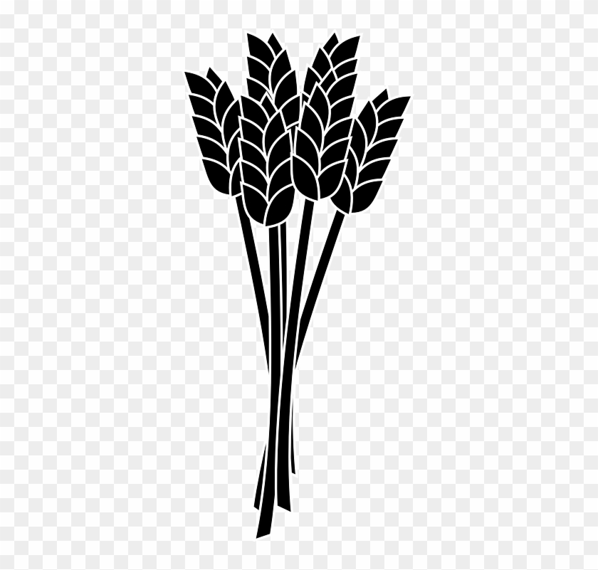 Wheat Clipart Wheat Leave - Wheat Black And White Clip Art #10066