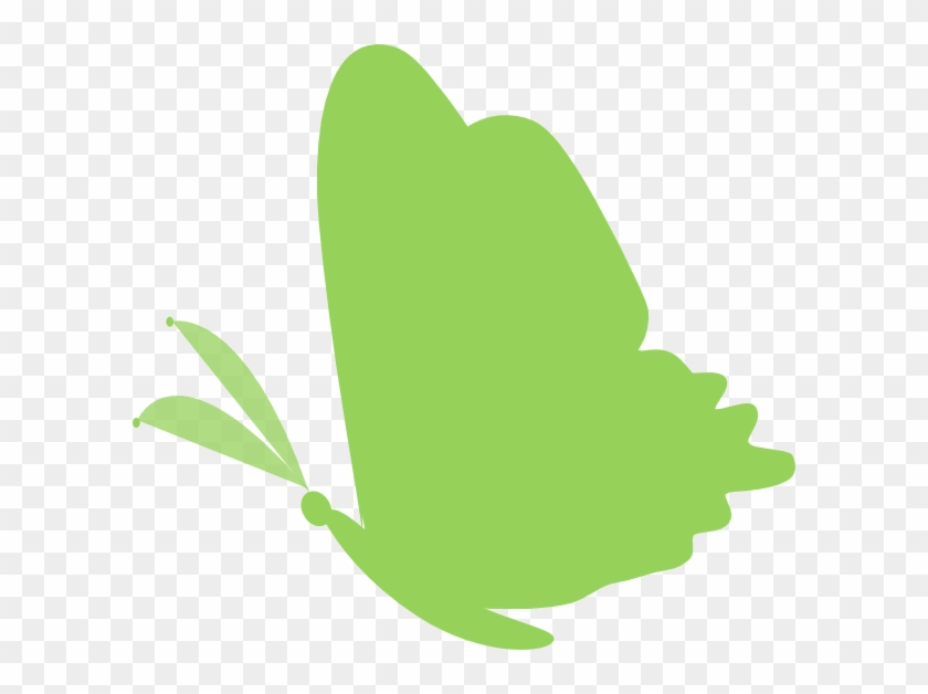Clip Art Butterfly Green At Clker Com Vector Online - Lupus Ribbon And Butterfly #10072