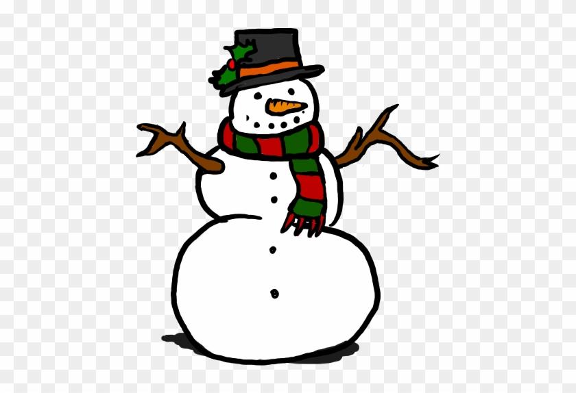 Snowman Black And White Free Snowman Clipart Black - Free Clipart Snowman #10078