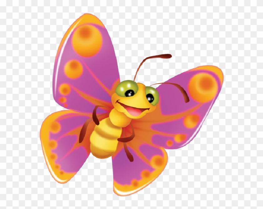 Clip Art - Butterfly In Cartoon Clip Art #10142
