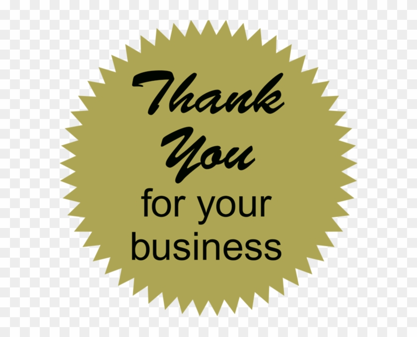 Innovation Clipart Thank You For Your Business Collection - Billing Collection Labels, Thank You! - Fl Chartreuse, #10146