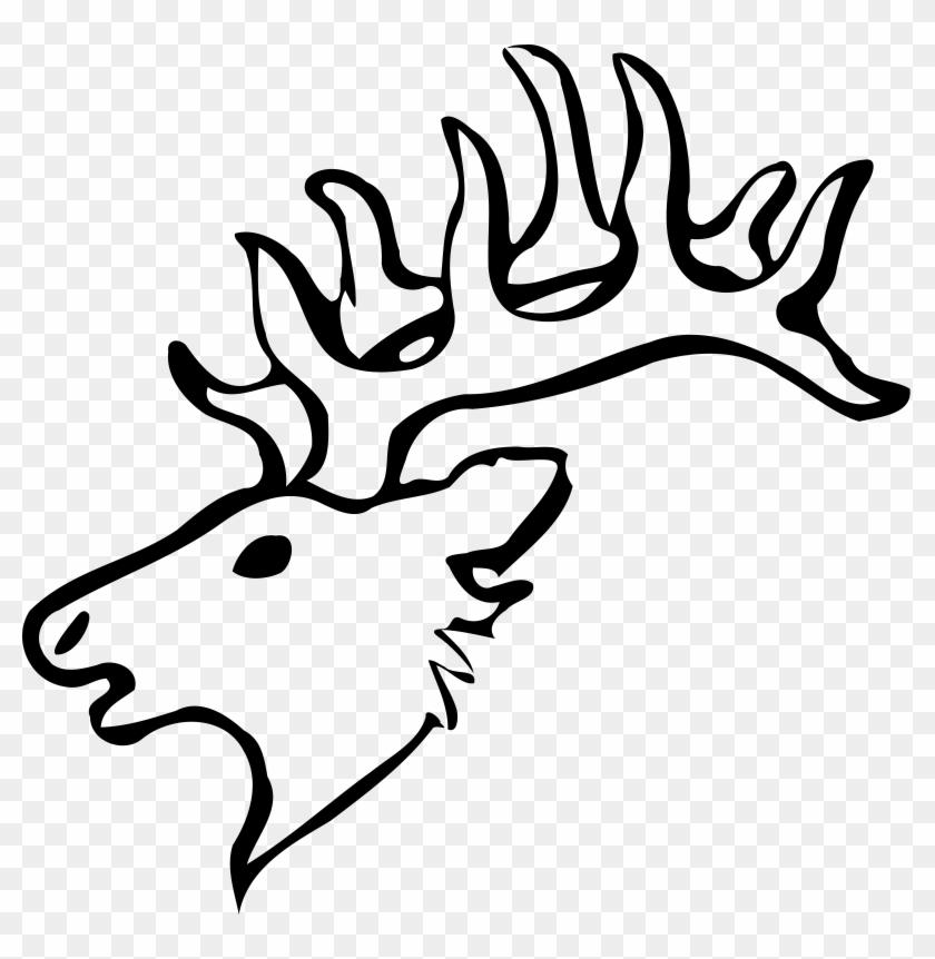 Deer Head Clip Art - Draw A Easy Deer Head #10184