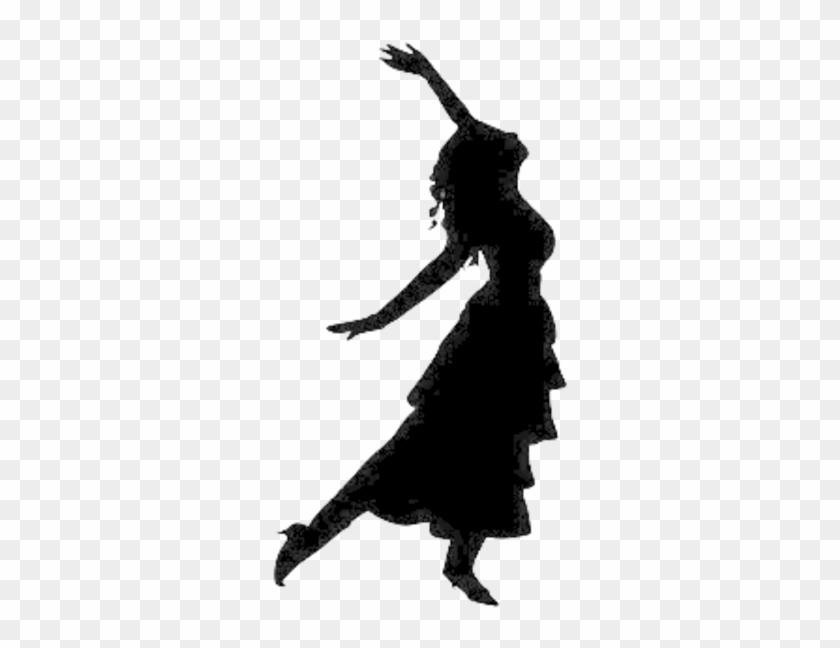 Dancing Clip Art - Woman Dancing Silhouette #10205