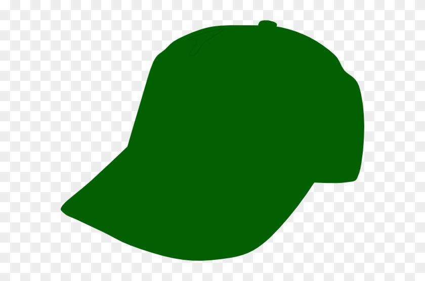 Cartoon Baseball Hat Clipart - Green Baseball Cap Clipart #10210