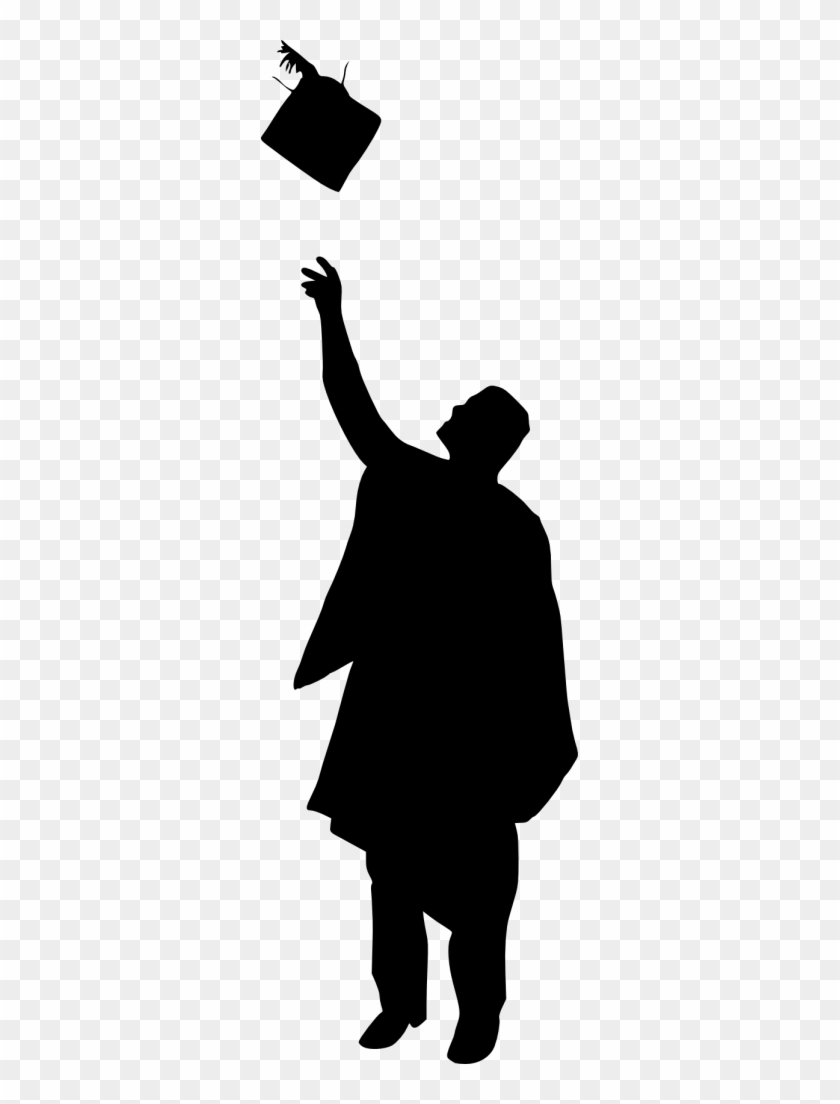 Graduate Silhouette Clip Art - Graduation Silhouette #10214