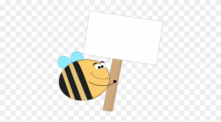 Funny Bee Blank Sign - Funny Blank #10219