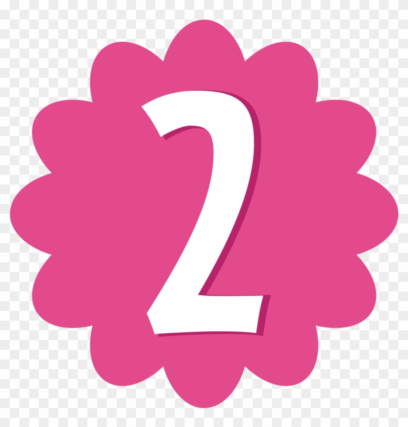 Pink Number 2 Clip Art Clipart Free Clipart - Pink Number 2 Clipart #10240
