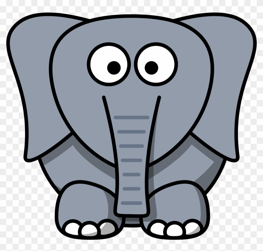 Images Of Cartoon Elephants - Cartoon Elephant Face #10251