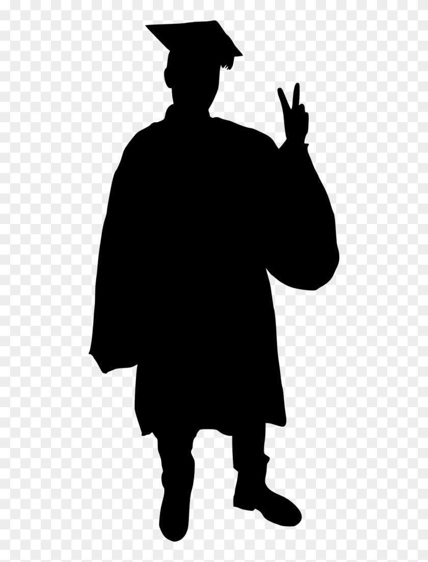 Graduate Silhouette - Graduation Silhouette - Free ...