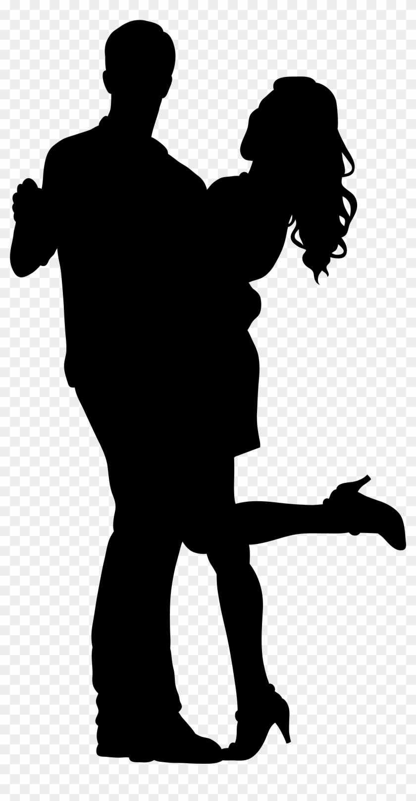 Couple Dancers Silhouette Png Transparent Clip Art - Dancer Silhouette Png #10286