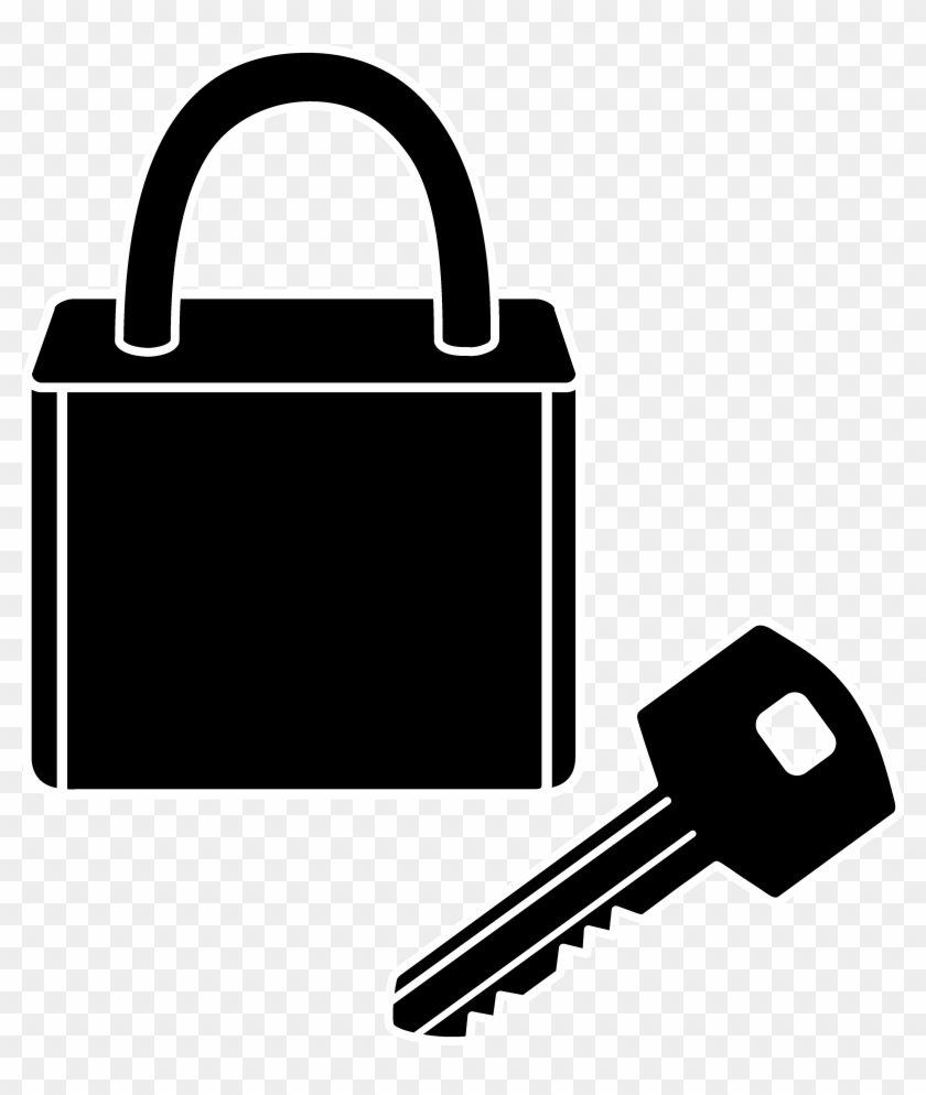 Lock And Key Silhouette - Lock And Key Clip Art #10281