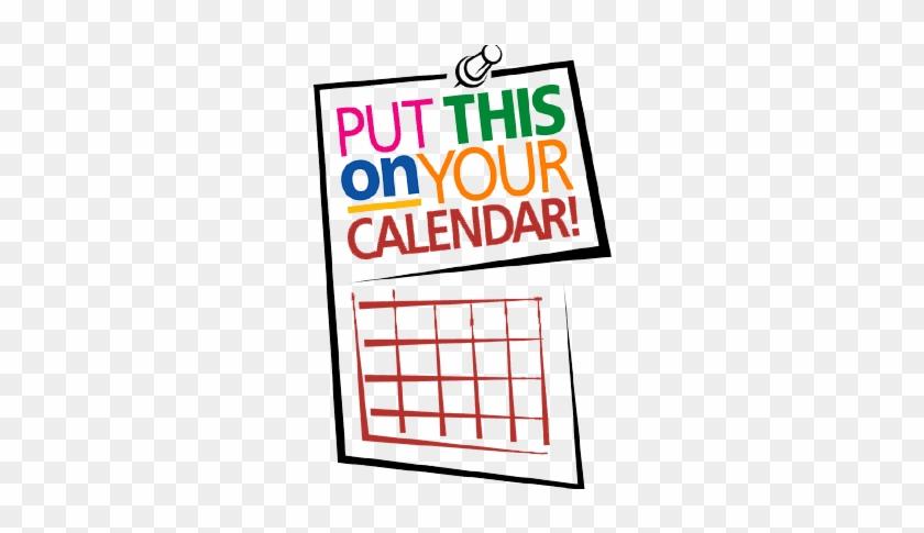 Mark Your Calendar Clip Art - Save The Date Notice #10270