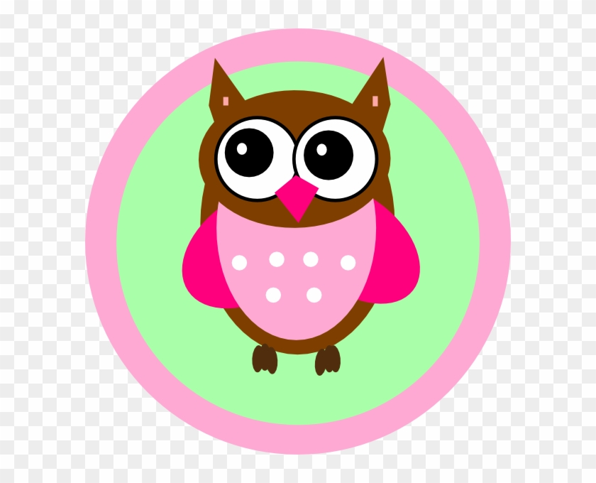 Pink Owl Tag Clip Art - Baby Shower Poems For Girl #10287