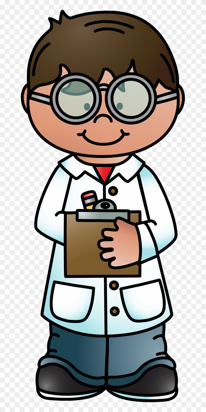 Melonheads Clipart - Teacher - Scientist Taking Notes Clipart #10289