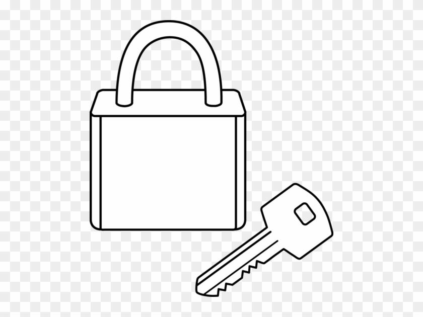 Key Black And White Photos Of Black Art Lock And Key - Lock Line Art #10318