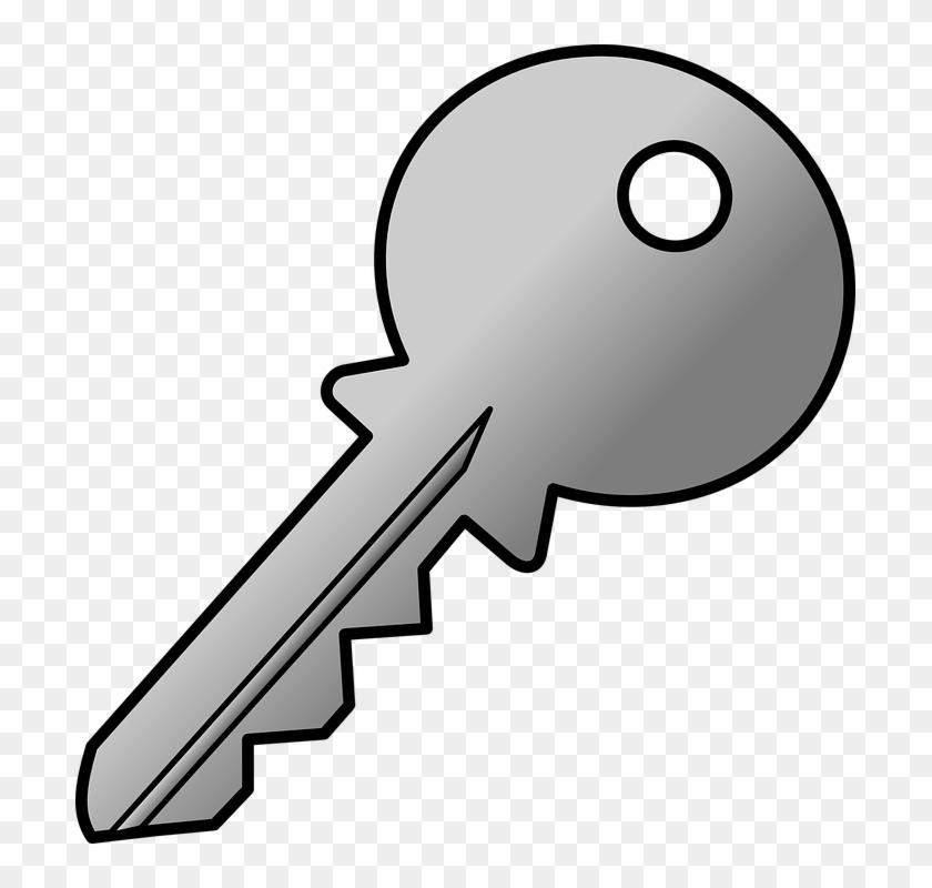 Gray Clipart Key - Chave De Porta Desenho #10324