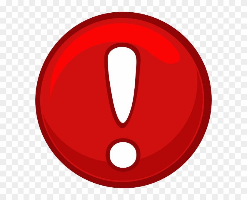 Alert Icon Png Red Alert Round Icon Clip Art - Alert Clipart #10380