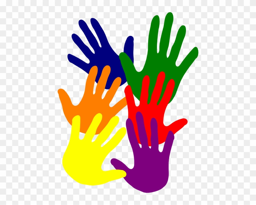 Resources - Colorful Hands Clipart Png #10381