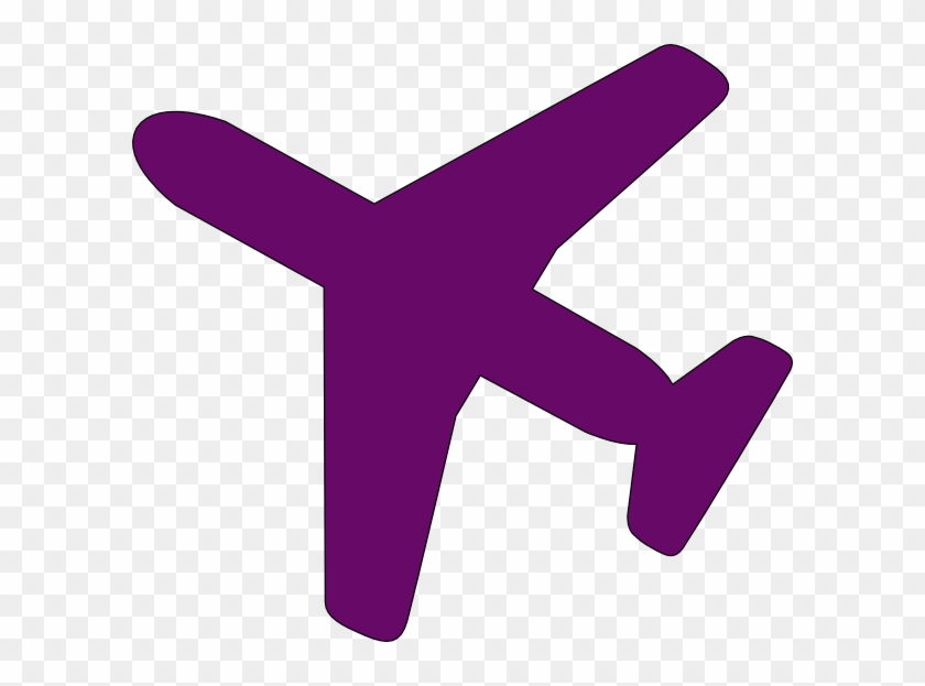 Purple Airplane Clip Art - Cartoon Airplane From Above #10402