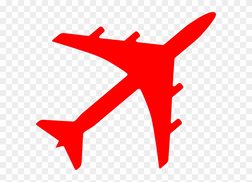 Plane Vector Png Red #10423