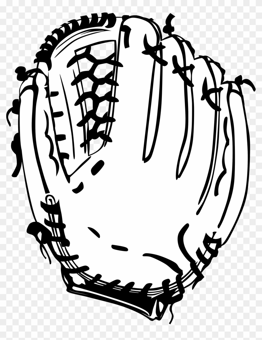 Snowflake - Clipart - Black - And - White - Baseball Glove Black And White #10463