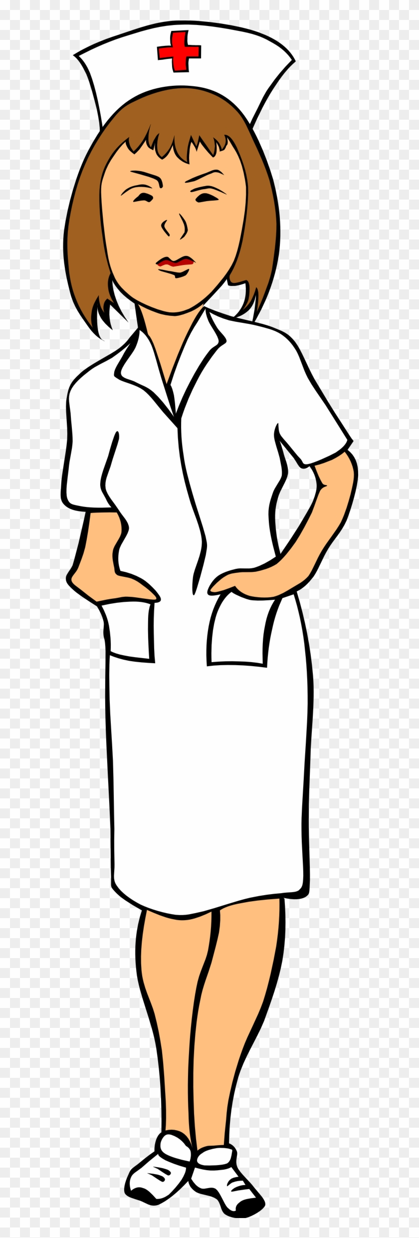 Open - Nurse Clip Art #10480