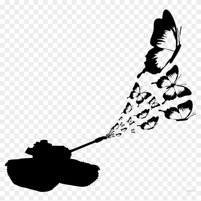 Butterfly Clip Art Black And White Buzzerg - Butterfly Art With Black And White #10485