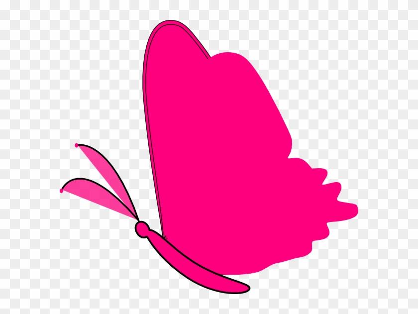 Neon Pink Butterfly Clip Art - Pink Butterfly Clip Art Png #10493