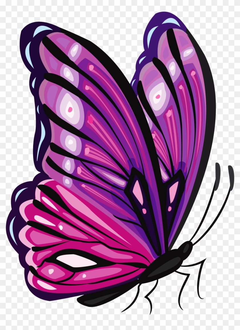 Purple Butterfly Clip Art #10513