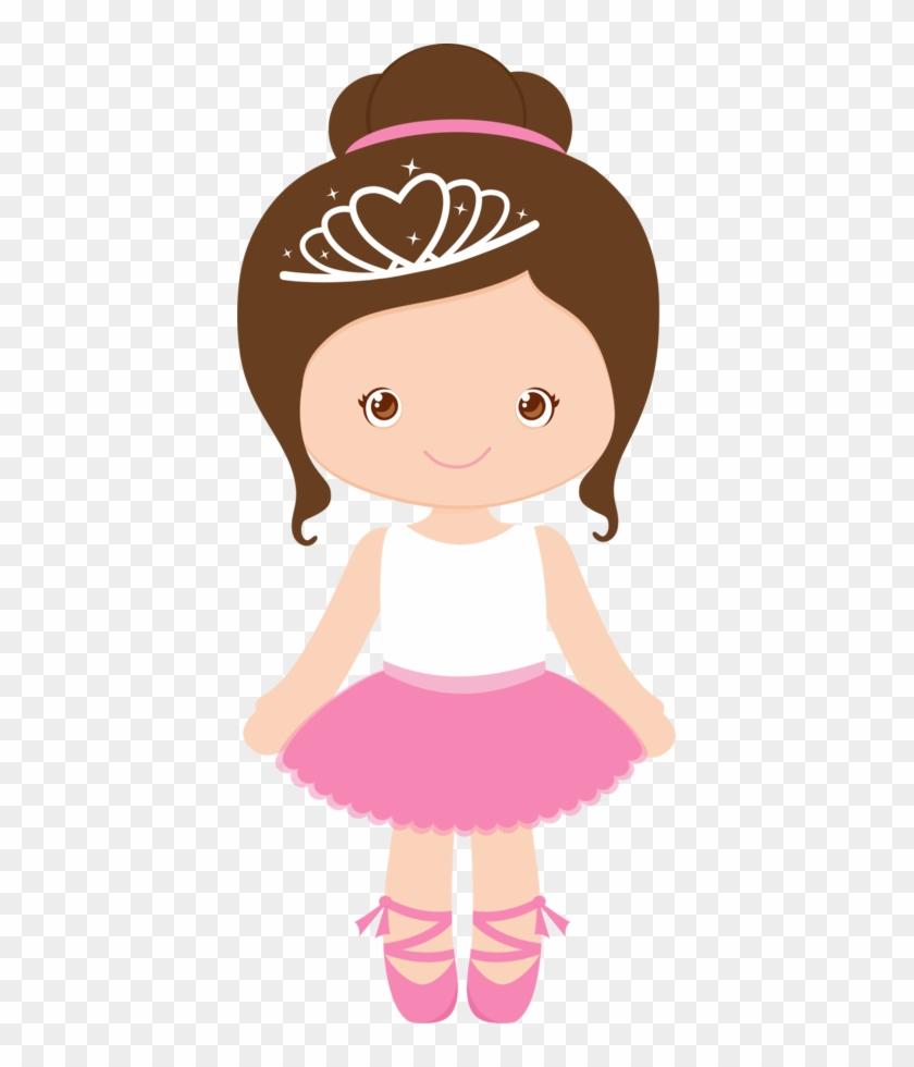 Bailarinas Princesas - Minus - Cute Ballerina Clipart #10529