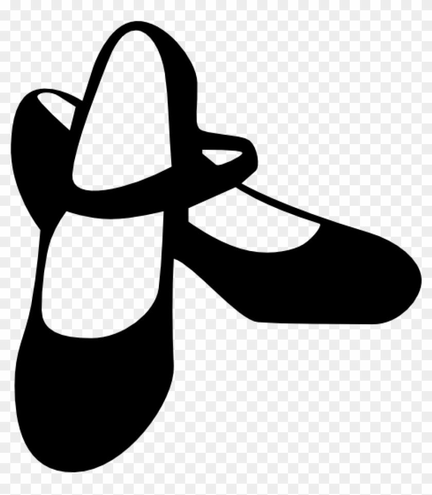 Dance Shoes Clipart Tool Fashion Black Shoe Flamenco - Dance Shoes Clipart #10533