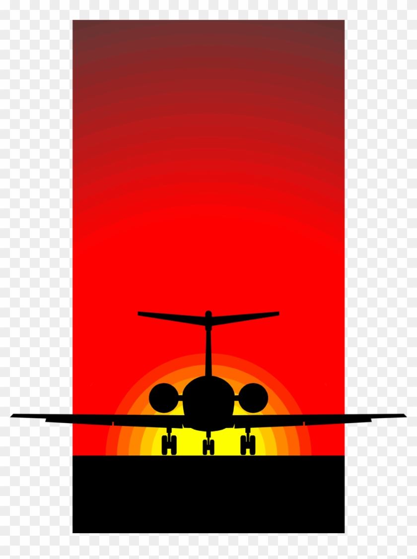 Airplane Free Stock Photo Illustration Of A Silhouette - Aircraft Silhouette Clip Art #10539