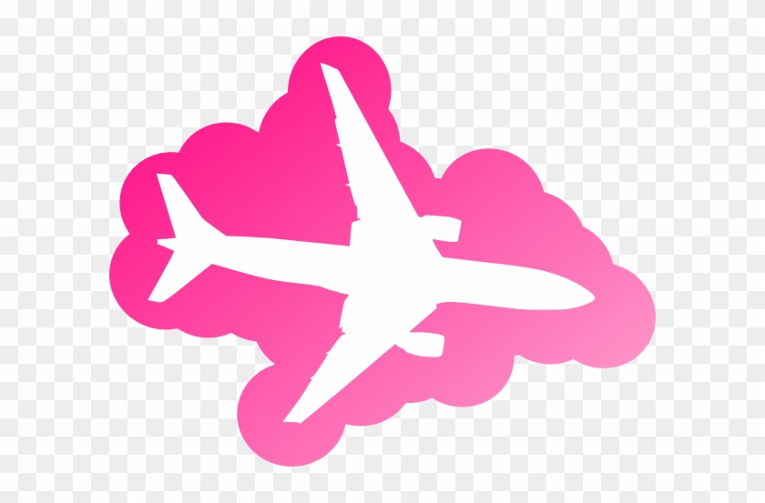 Pink Airplane Clip Art - Plane In The Sky #10543
