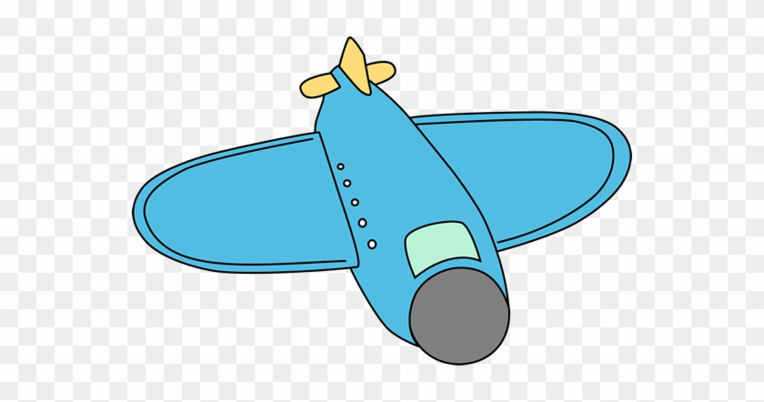 Big Blue Airplane - Airplane My Cute Graphics #10548