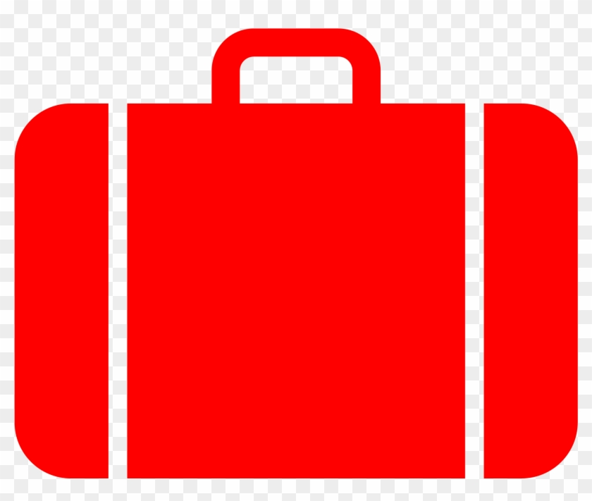 Suitcase Icon Red - Red Luggage Clipart #10562